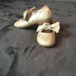 Oshkosh gold ballet shoes